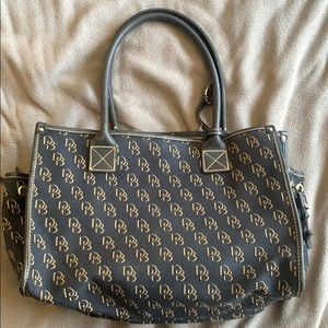 Dooney & Bourke Navy w/ Cream Detail Purse